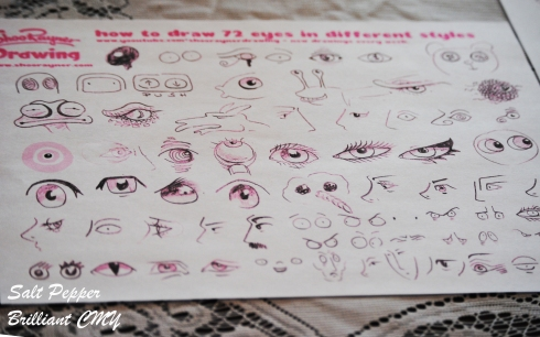 72 styles of eyes from the Shoo Rayner Drawing Channel. Some fun doodling in my future.